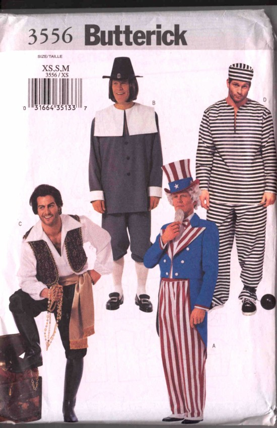 Butterick Uncle Sam Costume Pattern #3556