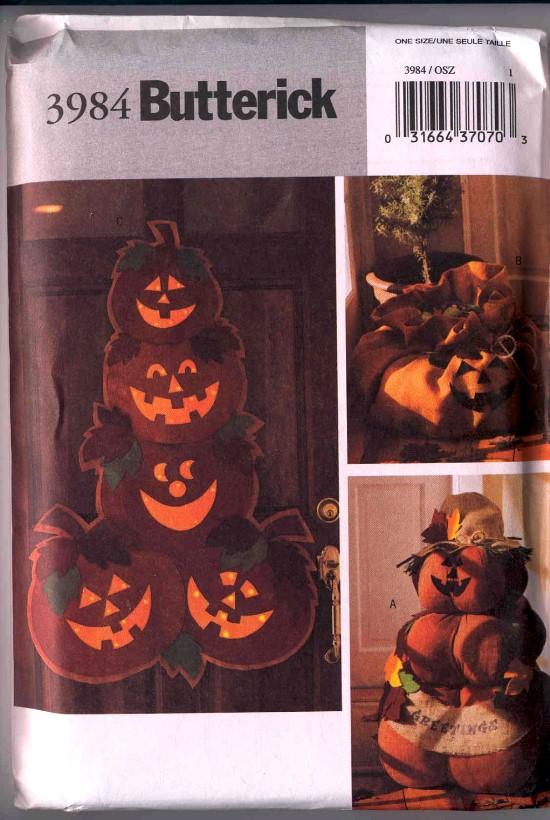 Butterick Craft Pumpkin Pattern #3984