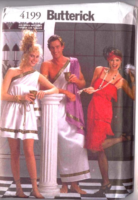 Butterick Greek Toga and Flapper Dress Costume Pattern #4199