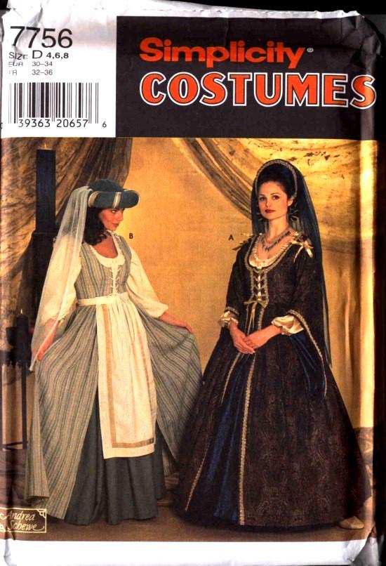 Butterick Period Costume Pattern #7756