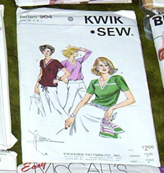 Kwik Sew Pattern #984