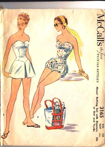 McCall's Bathing Suit with Bloomers Pattern #3165