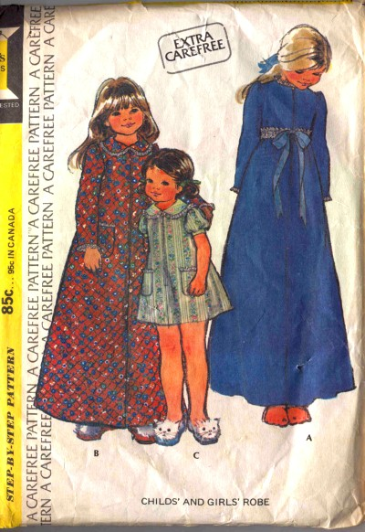 McCall's Girls Childs Robe Pattern #3805