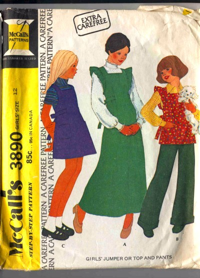 McCall's Girls Childs Jumper Top Pants Pattern #3890