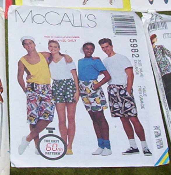 McCalls Pattern Misses Mens or Teen Boys Pattern #5982
