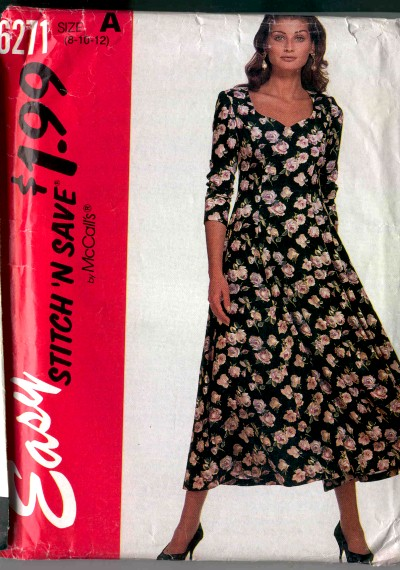 McCalls Stitch N Save Dress Pattern #6271
