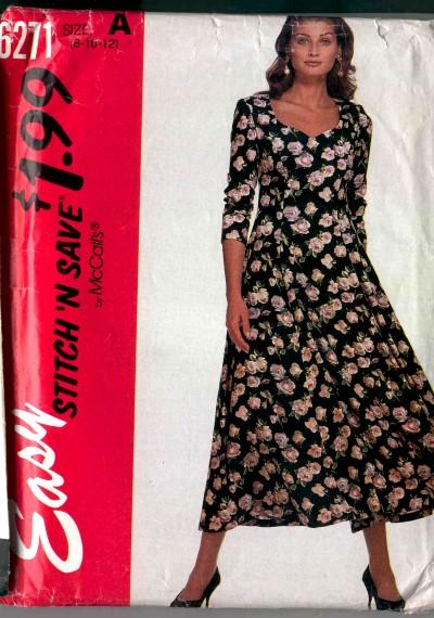 McCalls Stitch N Save Dress Pattern #6271