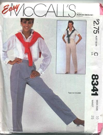 McCalls Misses Pants Pattern #8341