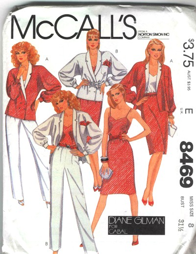 McCalls Diane Gilman for Cabal Jacket Camisole Skirt and Pants Pattern #8469