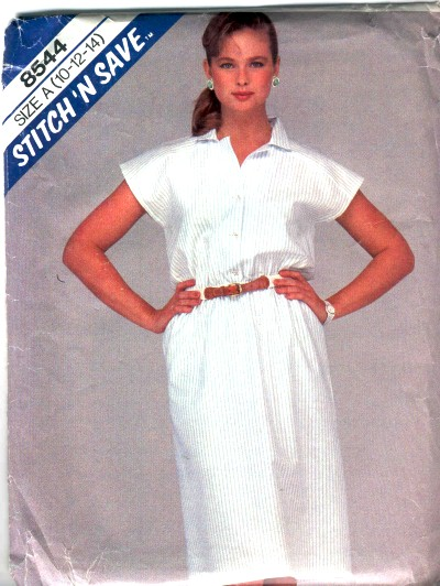 McCalls Misses Shirt Dress Pattern #8544