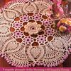 Vintage Hand Crocheted Doiley and Linens